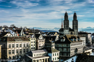 Grossmünster & CityScape of Zürich
