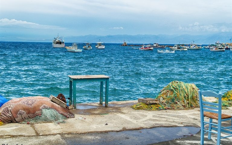 A Fishermans Corner at the Little Harbour Mediterranean Sea And Still Life