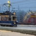 Tramway in the Snow with Conelli CIrkus - Zurich
