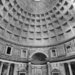 Pantheon Cuppola Inside - Roma Eterna - Black & White