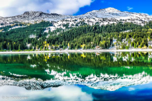 Mountains Mirrored in the Lake - Lenzerheide - Swiss Landscapes