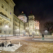 Bundesterrasse and Bundeshaus with Fog - Berne by Night in HDR