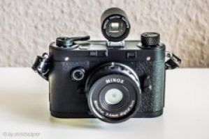 Black Vintage Rangefinder Camera