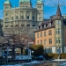 Bundeshaus from Marzili in Winter - Berne Cityscape in HDR
