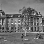 University Berne Main Building - Berne in Black & White in HDR