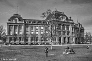 University Berne Main Building - Berne in Black & White in HDR