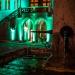Venner Brunnen und Rathaus in Grün - Museumsnacht Bern 2018