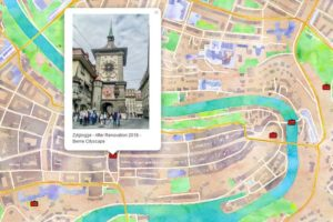 Berne Old City Photo Map