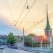 Last Sun at Nydegg Church - Berne Sunsets