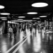 Subway in Berne Mainstation - Black And White