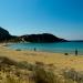 Sunny Autumn Day at the Mediterranean Beach