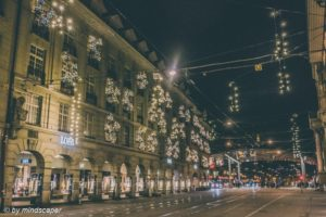 Xmas Lights in Spitalgasse - Berne in Xmas Time