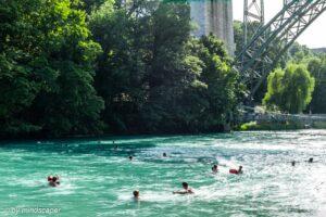 Swimming in Aare - Berne in Summer