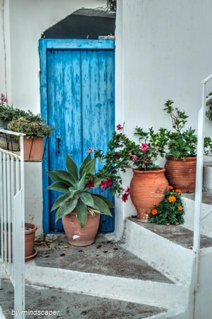 Blue Door Still Life - Mediterranean Spirit