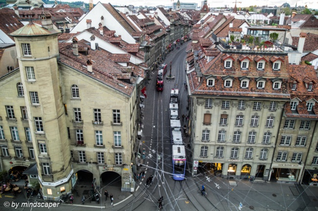 Looking to Markgasse from Zytglogge Tower