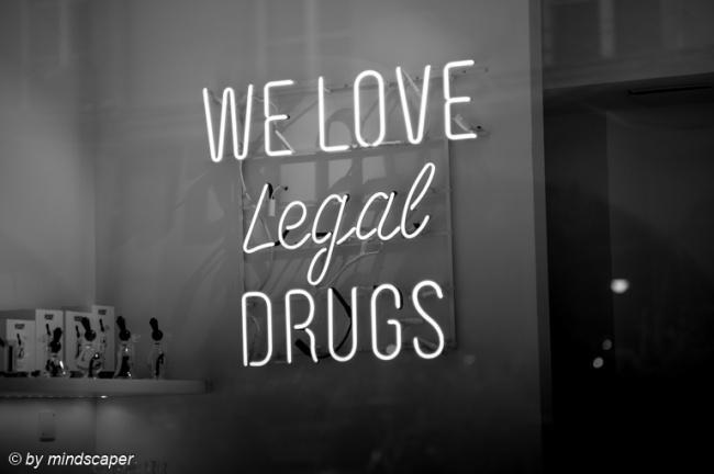We Love Legal Drugs - Black & White
