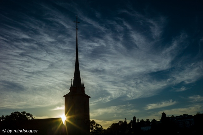 Sunset at Nydegg Church