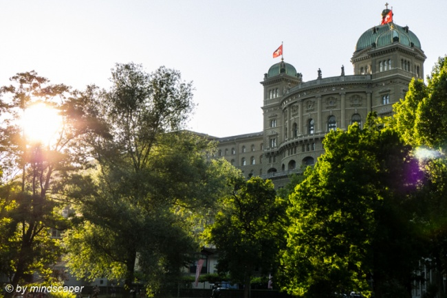 Bundeshaus in the Evening Sun