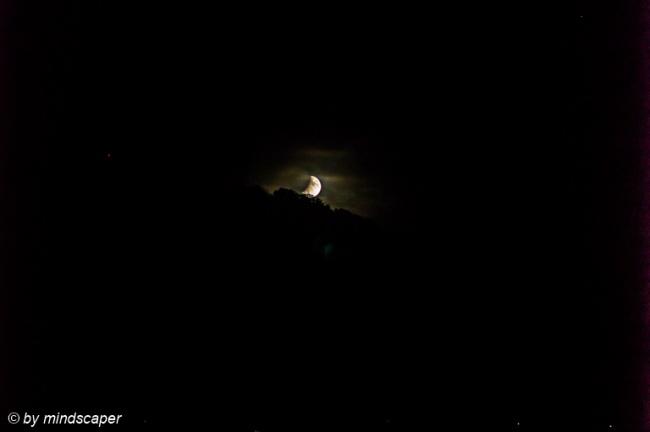 Rising Partial Lunar Eclipse 16.7.19