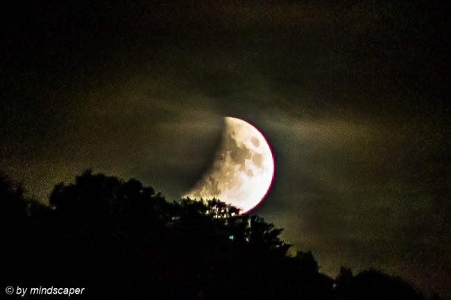 Rising Partial Lunar Eclipse 16.7.19