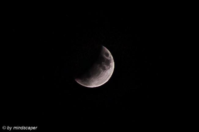 Partiial Lunar Eclipse - Berne 16. June 2019