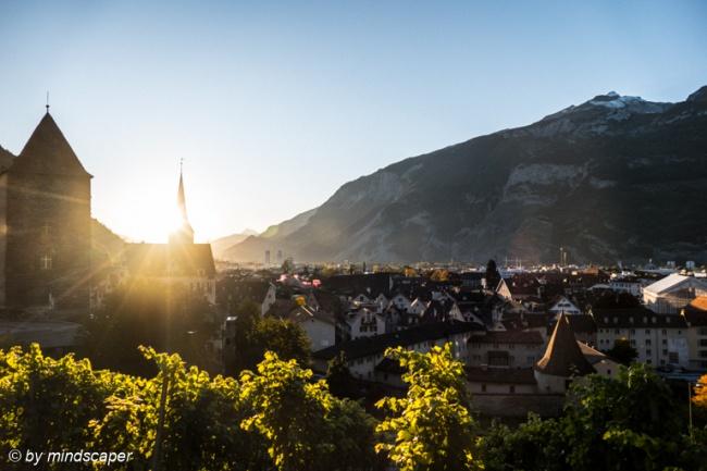 Autumn Sunset in Chur
