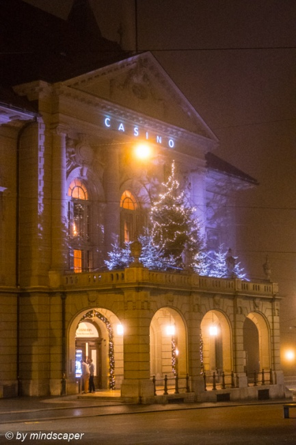 Xmas Lights at Casino - Berne by Night