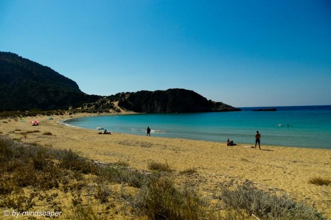 Loneley Mediterranean Beach in Autumn