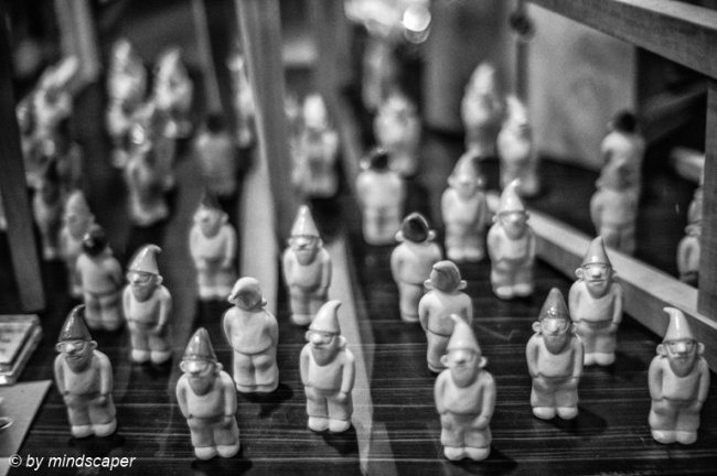 Gnome Invasion in Black & White