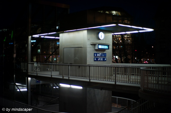 Selnau Station Entrance - Zurich by Night