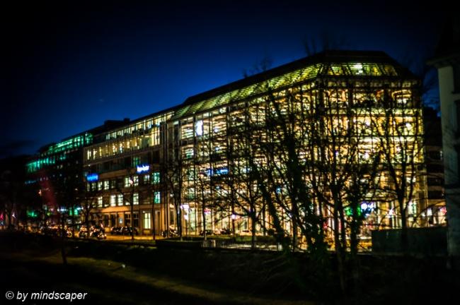 Tamedia Building at Night, Zurich