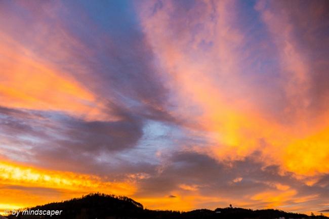 Orange Morning Clouds at Gurten & Ulmiz