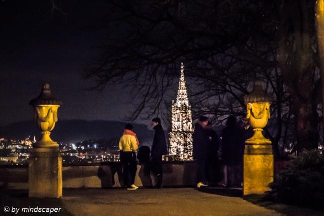 Berne Minster from Rosengarten - Berne by Night