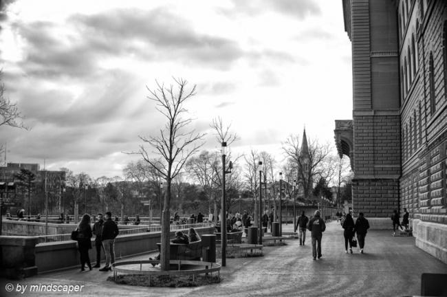 Bundesterrasse People - Berne in Black & White