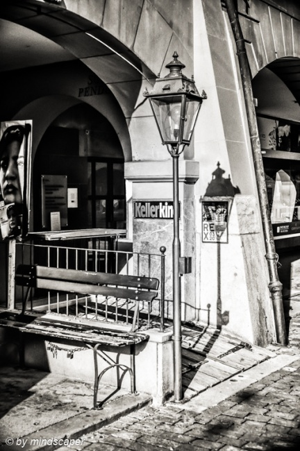 Lantern in Kramgasse - Berne in Black & White