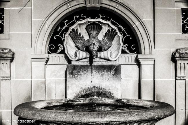 Lösch Fountain - Berne in Black & White