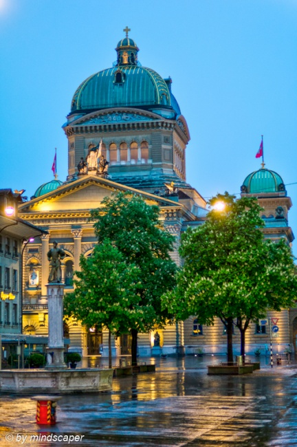 Rainy Eveningrise at Bundeshaus