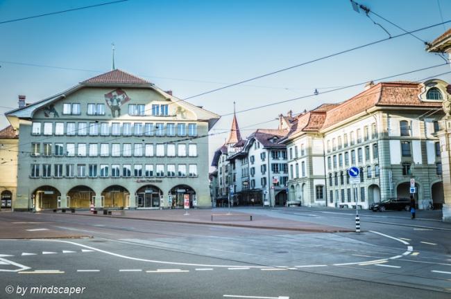 Empty Casinoplatz - Berne CItyscape