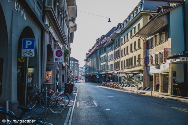 Empty Schauplatzgasse - Berne CItyscape