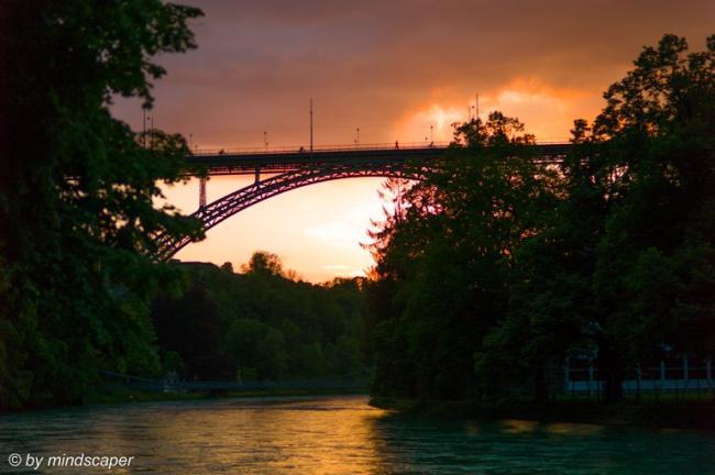 Cloudy Sunset at Kornhaus Bridge