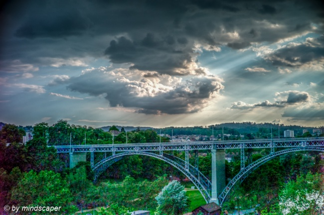 Rain Clouds Above KIrchenfeld Bridge