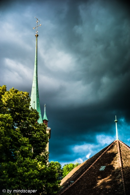 Dark Clouds Behind Nydegg Church