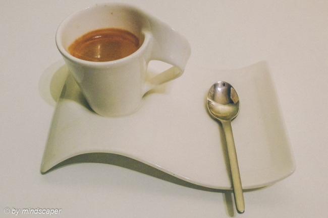 Espresso in the White Wave Cup - Coffee Time