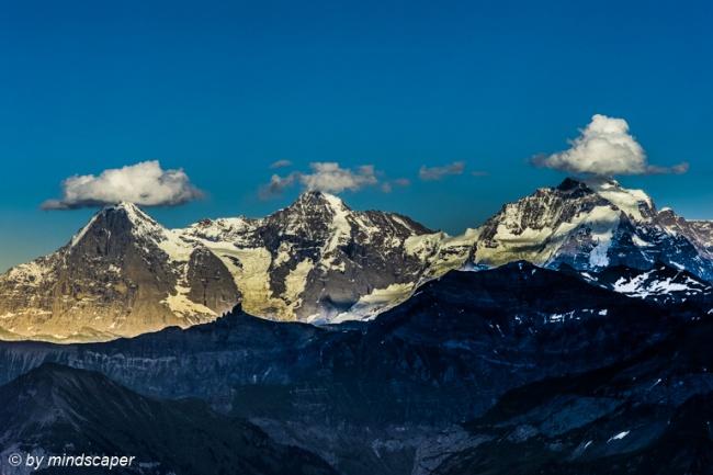 Eiger, Mönch und Jungfrau with Cloud Hats - Swiss Landscapes