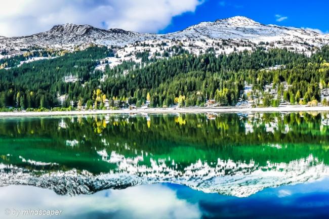 Mirrored Mountains at Lake Lenzerheide