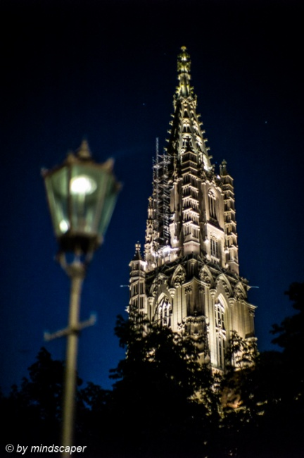 Minster Tower With Lantern - Berne by Night