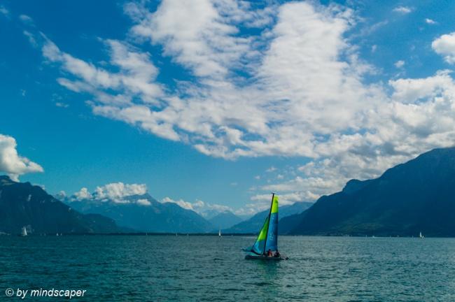 Sailing at Lake Geneva