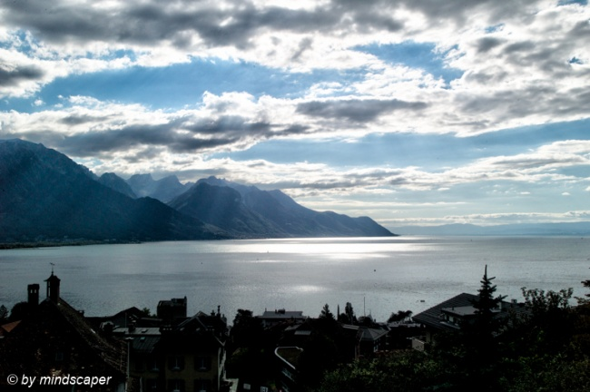 View to Lake Geneva in the Afternoon