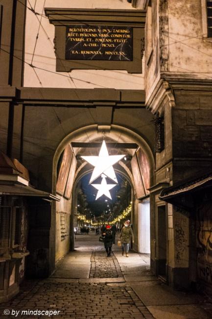 Xmas Stars at Zytglogge