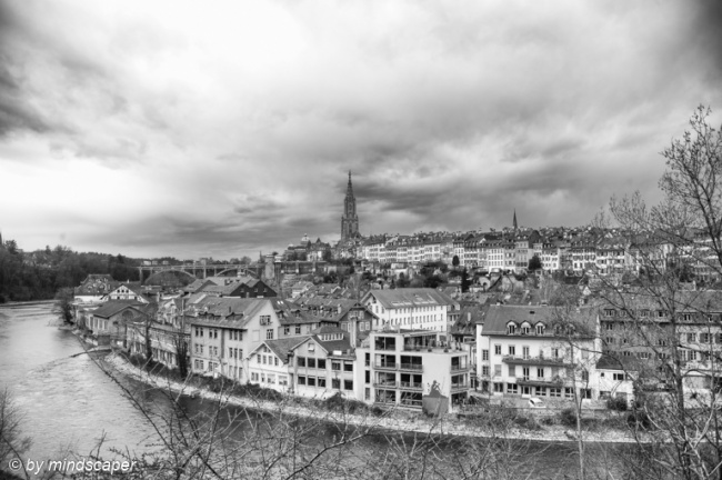 Berne Skyline with Matte and Aare
